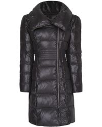 Mango Feather Quilted Coat - Lyst