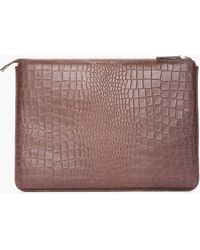 Marc By Marc Jacobs -  Croc-Embossed Leather Laptop Case - Lyst