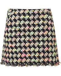 Topshop Fluro Boucle Skirt - Lyst