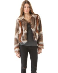 Twelfth Street by Cynthia Vincent Faux Fur Jacket - Lyst