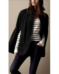 Burberry Brit Heritage Wool Cape - Lyst