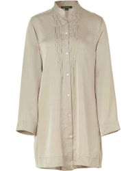 Donna Karan Intimates Taupe Laundered Satin Sleepshirt - Lyst