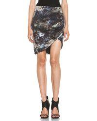 Helmut Lang Oxide Print Star Twist Skirt  - Lyst