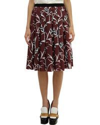 Marni Pineapple Print Pleated Skirt - Lyst