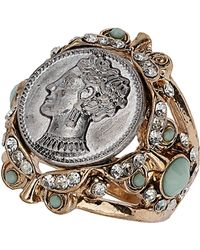 TOPSHOP - Queen Coin Ring - Lyst