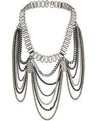 Topshop Track Drape Necklace - Lyst