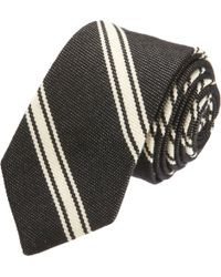 Band of Outsiders - Diagonal Railroad Striped Tie - Lyst