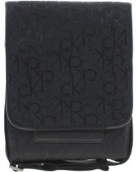 Calvin Klein Black Flight Bag - Lyst