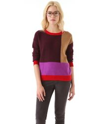 Madewell Elsa Colorblock Pullover - Lyst