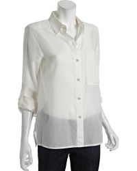 Marc By Marc Jacobs  Cotton Silk Rex Button Front Blouse - Lyst