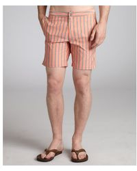 Onia Striped Calder Swim Trunks - Lyst
