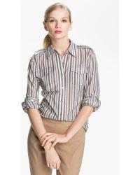 Tory Burch Brigitte Cotton Shirt - Lyst