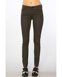 Cheap Monday The Tight Skinny Jean in Hard Coated khaki - Lyst