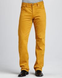 AG Adriano Goldschmied Protege Yellow Jeans - Lyst