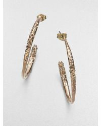 Alexis Bittar Sparkle Hoop Earrings125 - Lyst