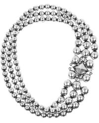 Bottega Veneta Antiqued Sterling Silver Necklace - Lyst