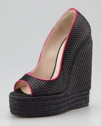 Brian Atwood - Womens Cailey Luxor Espadrille Wedge Pump - Lyst
