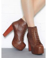 Jeffrey Campbell Lita Platform Lace Up Platform Ankle Boot - Lyst