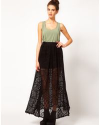 River Island Chelsea Girl Lace Maxi Skirt - Lyst