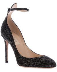Valentino Ankle Strap Pump black - Lyst