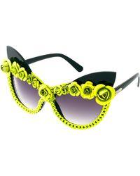 A-morir - Amorir Bryson Floral Sunglasses - Lyst