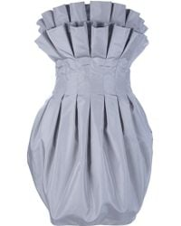Alexander McQueen Puff Pleat Dress - Lyst