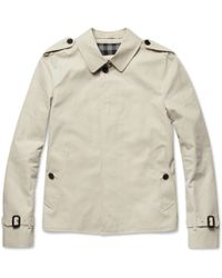 Burberry Short Slim Fit Cotton Twill Trench Coat - Lyst