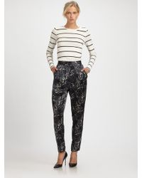 By Malene Birger Printed Pants - Lyst
