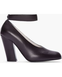 Chloé Chocolate Brown Leather Runway Heel - Lyst
