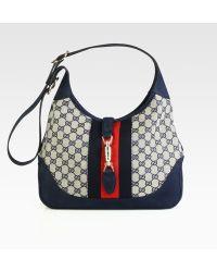Gucci Jackie Original Gg Canvas Shoulder Bag blue - Lyst