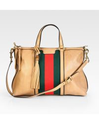 Gucci Rania Leather Top Handle Bag - Lyst