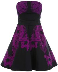 Karen Millen Lace Print Prom Dress - Lyst