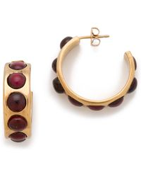 Kelly Wearstler - Cabochon Hoop Earrings - Lyst