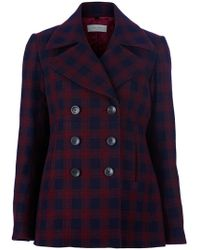 Paul by Paul Smith - Checked Pea Coat - Lyst
