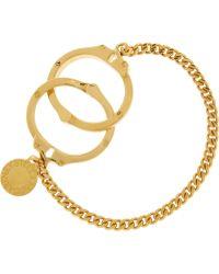 Stella McCartney - Goldtone Handcuff Bracelet - Lyst