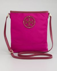 Tory Burch Stacked Logo Swingpack Bag Fuchsia - Lyst