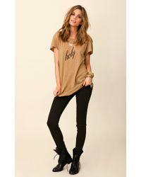 Wildfox Hippy Crew Holy Shirt - Lyst