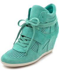 Ash Bowie Wedge Sneakers with Mesh Insets - Lyst