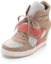 Ash Coca Wedge Sneakers brown - Lyst