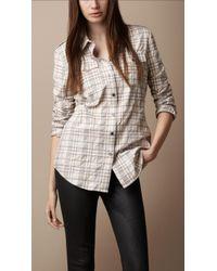 Burberry Brit Crinkle Check Shirt - Lyst