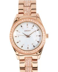 DKNY Rose Gold Bracelet Watch - Lyst