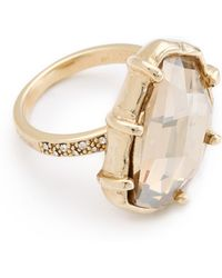 Made Her Think - Pave Angle Faceted Dame Ring - Lyst