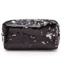 Tory Burch Sequined Cosmetic Case black - Lyst