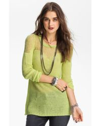 Free People Sweetheart Sweater green - Lyst
