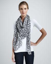 Thakoon - Angry Leopardprint Scarf Blackwhite - Lyst