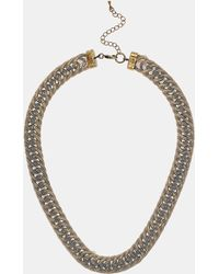 Topshop Mesh Chain Necklace - Lyst