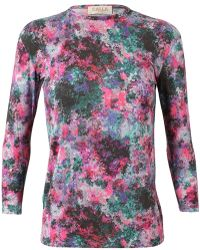 Calla - Printed Jersey Top - Lyst