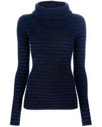 Emporio Armani Checked Sweater - Lyst