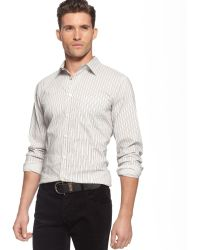 Armani Jeans Striped Yarn Dye Shirt - Lyst