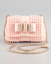 Christian Louboutin Sweet Charity Mini Spiked Shoulder Bag Pink - Lyst